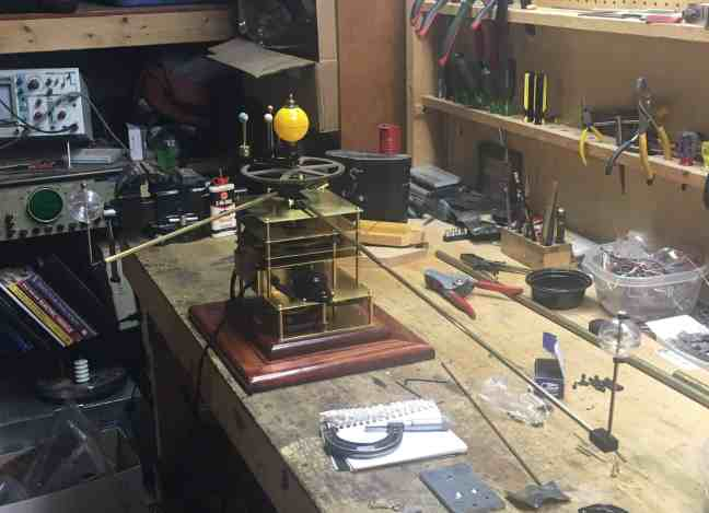 Orrery Jupiter Saturn Clear mounted