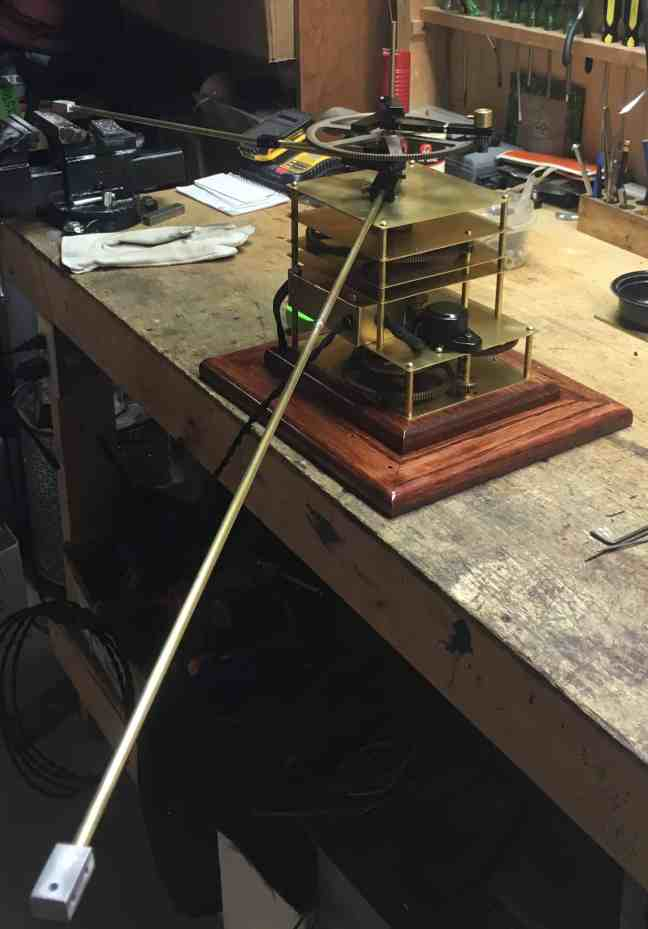 Orrery Planet rods +elbows attached 1