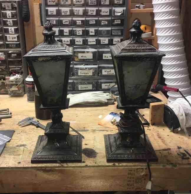 1 antique gas lamps