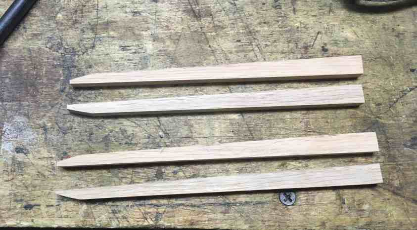 75 Oak Strips shaped