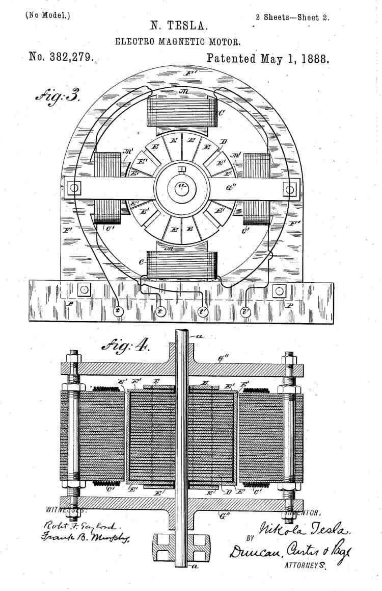 Tesla Motor Patent