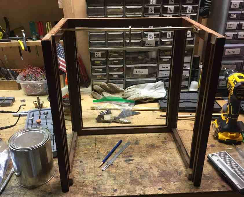 4h Wood varnished with slide installed
