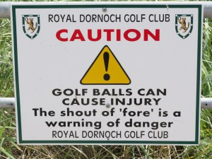 golf balls can cause injury
