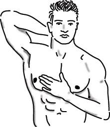 breast self exam male