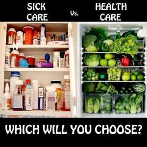 medicine cabinet sick-care-vs-health-care