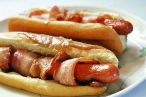 bacon-wrapped-hot-dog-maple-bar