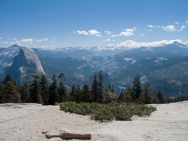 Half Dome, Clark Range, much more, from Sentinel Dome