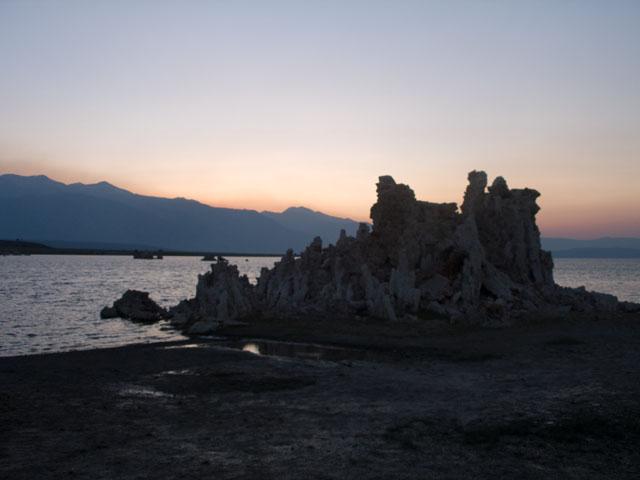 Mono Lake, tufa, and the Sierra at sunset