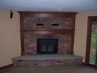 Awesome Picture of Corner Brick Fireplace - Fabulous Homes ...