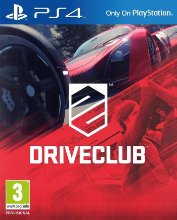 The official box art for the PAL version of Driveclub on PS4.
