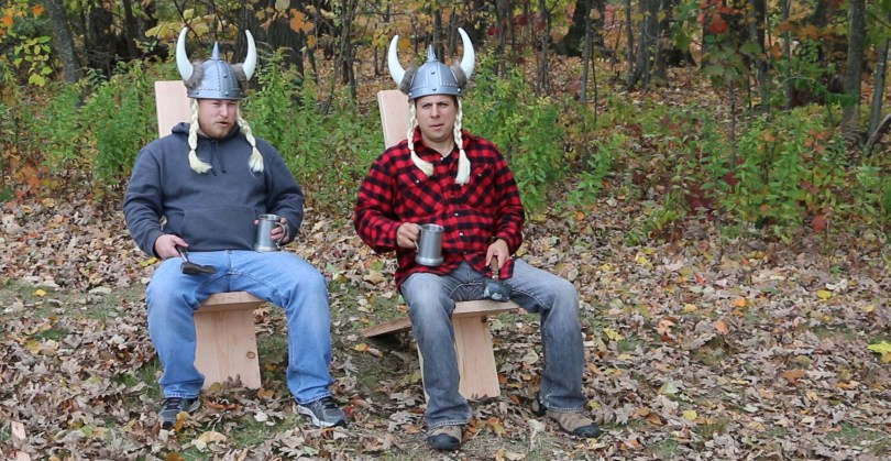 How to make a viking chair with hand tools