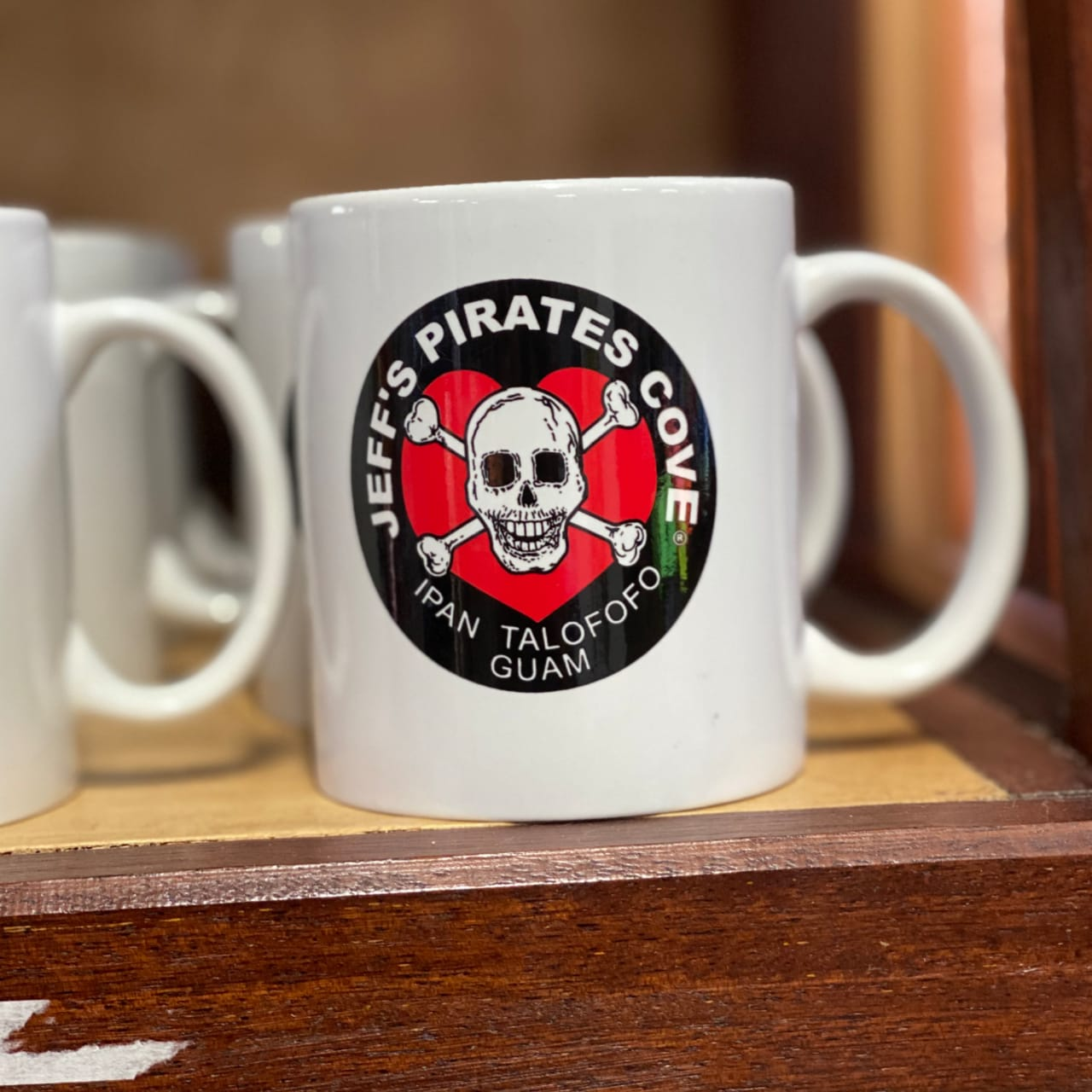 Skull & Cross Bone Heart Coffee Mug