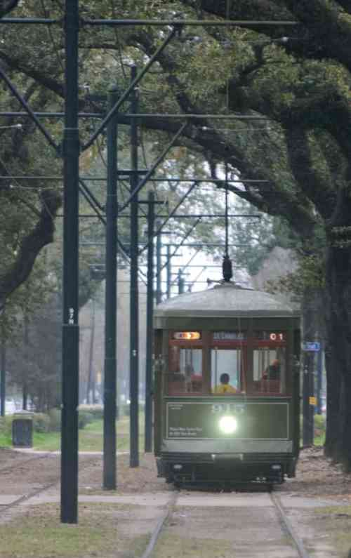 New Orleans streetcar photographed by Jeff Wendorff