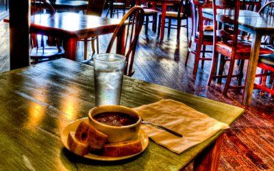 Black Bean Soup and Sour Dough Bread