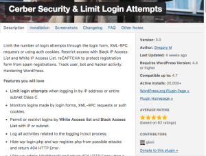 WordPress Cerber Security Plugin