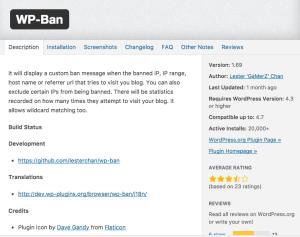 WordPress Ban
