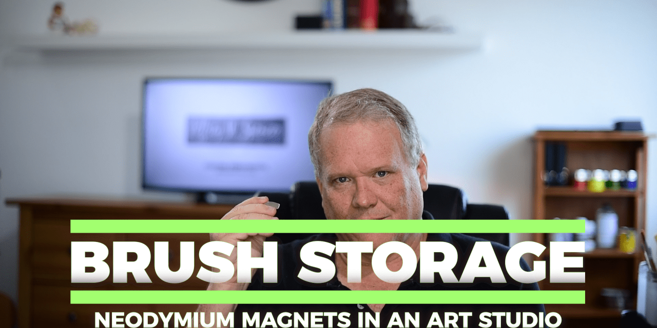 Use Neodymium Magnets for art or makeup brush organization
