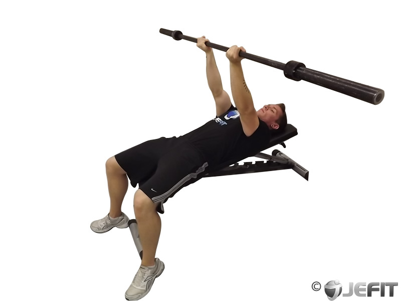 Barbell Reverse Triceps Bench Press - Exercise Database ...