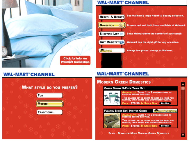 walmart interactive tv channel
