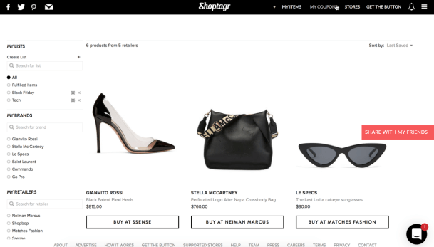 Shoptagr allows you to save all your wants in one place.