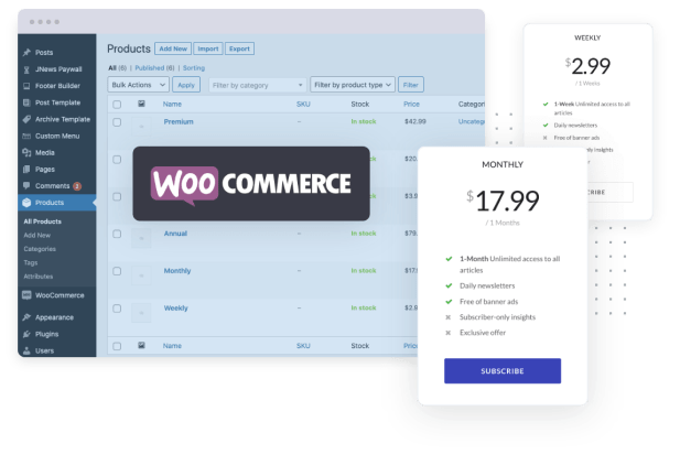 Jeg Paypal Paywall & Content Subscriptions System - WooCommerce Plugin - 2