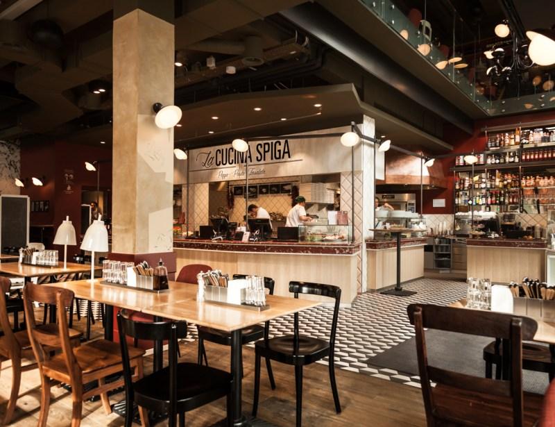 Umbau Restaurant Spiga an der Löwenstrasse in Zürich