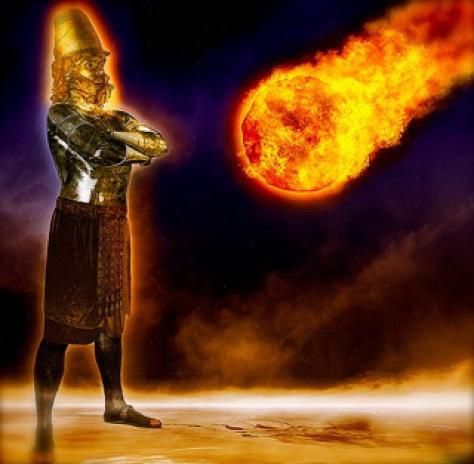 Het beeld van Nebukadnezar en het vuur uit de hemelen
