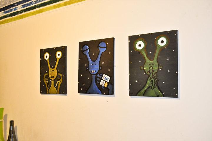 Hear No Evil / See No Evil / Speak No Evil – Alien Painting Set