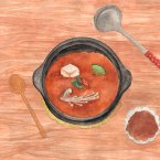 [Soul food: Doenjang Jjiggae (fermented soy bean paste stew)]