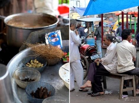 Indian spice milk tea, Chai, in India