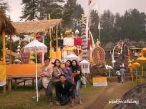 Candi Cetho saat perayaan keagamaan