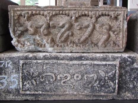batu angka tahun, koleksi Museum Trowulan
