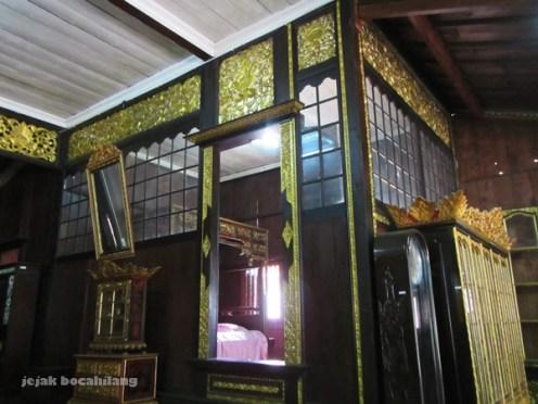 sekat kekijing kelima rumah Limas Palembang