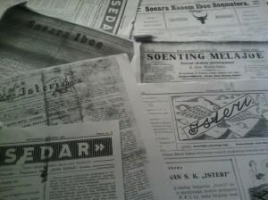 Beberapa surat kabar perempuan dimasa silam. Sumber foto: Dok. pribadi Sarah Mantovani