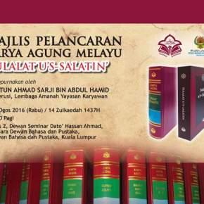 Launching Buku Sulalatus's-Salatin: Transliterasi Naskah Krusenstern Koleksi Perpustakaan Institut Manuskrip Oriental di Rusia