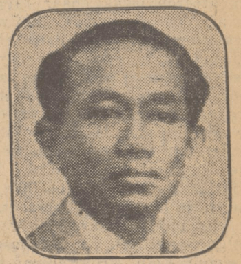 Gambar 1.15 Alimin Prawirodirjo tahun 1929. Sumber foto: Haagsche Courant, 27 April 1929