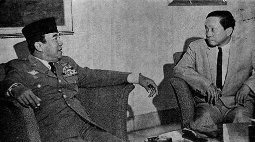 Sukarno dan Aidit. Sumber foto: perpusnas.go.id
