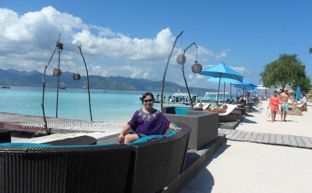 wisata gili mataram pulau lombok meno air