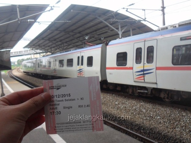 Dari Terminal Bus TBS ke Stasiun KL Sentral Kualalumpur Naik Kereta KTM Komuter