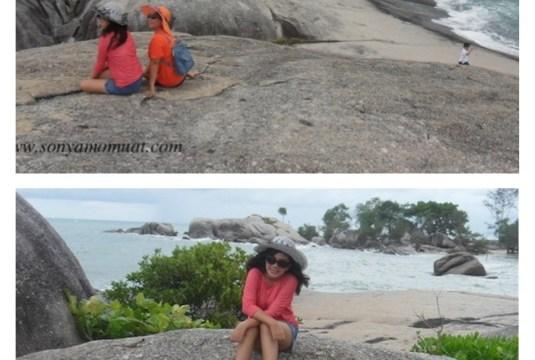 Tebing Granit menyerupai Dermaga Kapal, hanya di Pantai Penyabong Belitung