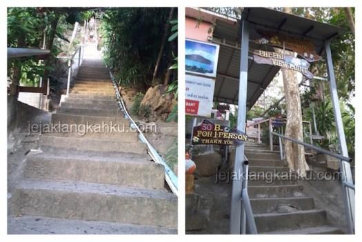 tangga menuju puncak phi phi