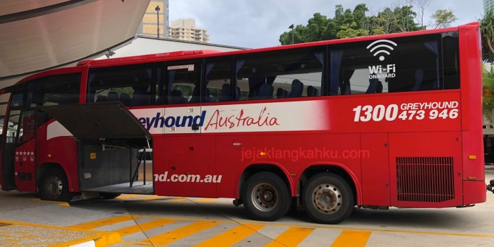 Transportasi Bus Greyhound dari Gold Coast Menuju Brisbane, Australia