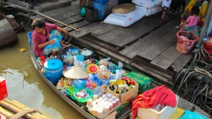 a seller at Tonle Sap lake
