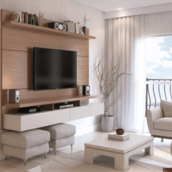 Living Room Mounted Tv Ideas Furniture Denver 37 Wall Interior And Decor For Your Inspirations Wooden Mount This Trendy