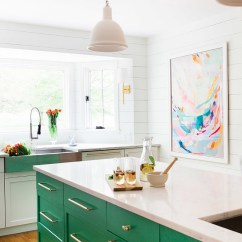 Green Kitchen Cabinets Antique White Island 23 Ideas For Your Interior