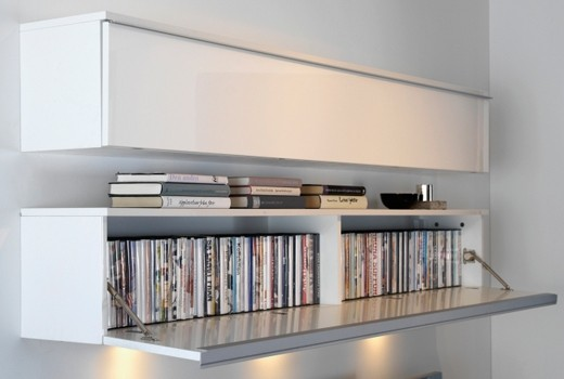 Hidden DVD storage