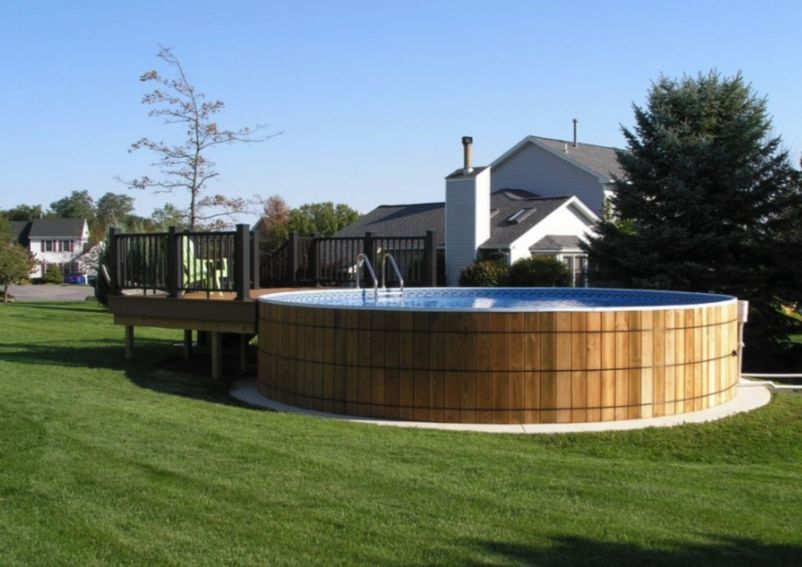 making an above ground pool look nice