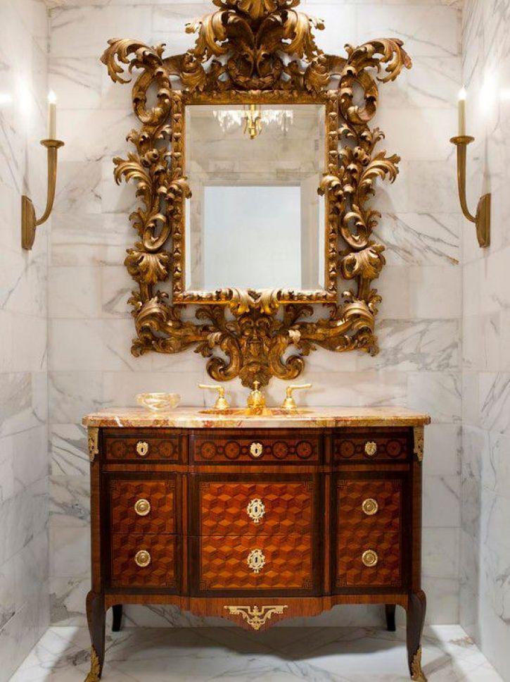 Antique Bathroom Mirror Ideas