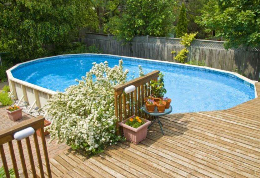 deep above ground pool ideas