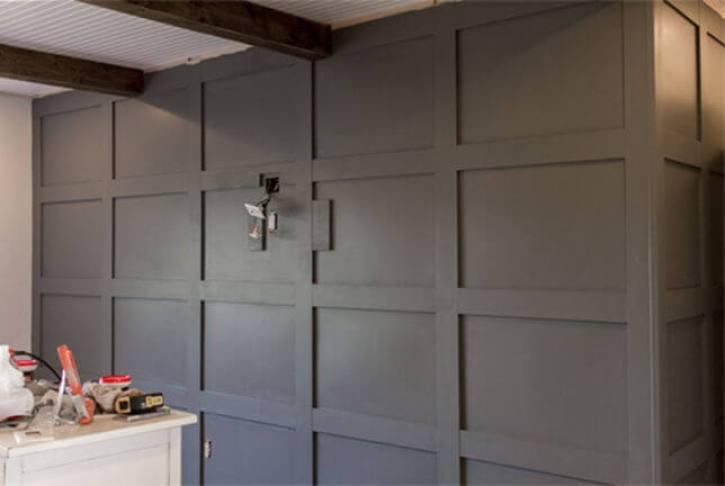 DIY Paneled Wall